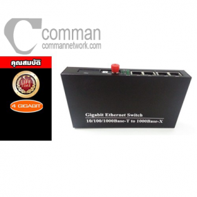 1000Base FX Media Converter 4x10/100/1000Mbps, FC Connector, 20KM, 1310nm/1550nm, Single Fiber
